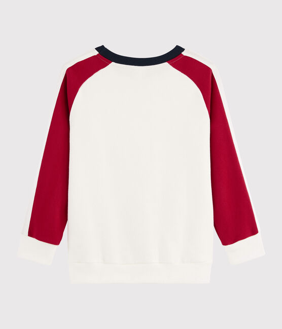 Sweatshirt enfant garçon MARSHMALLOW/TERKUIT/SMOKING
