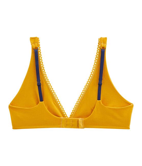 Soutien-gorge triangle femme jaune Boudor