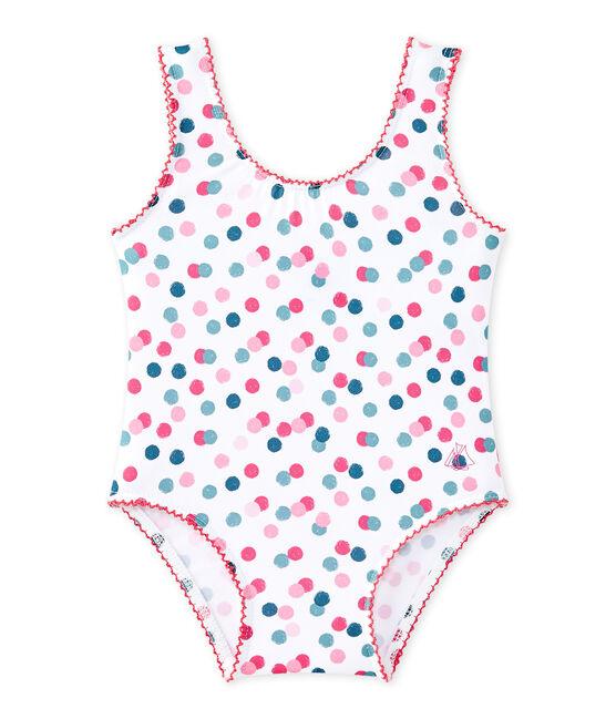 Maillot de bain bébé fille imprimé blanc Marshmallow / blanc Multico