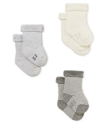 Lot de 3 paires de chaussettes bébé mixte
