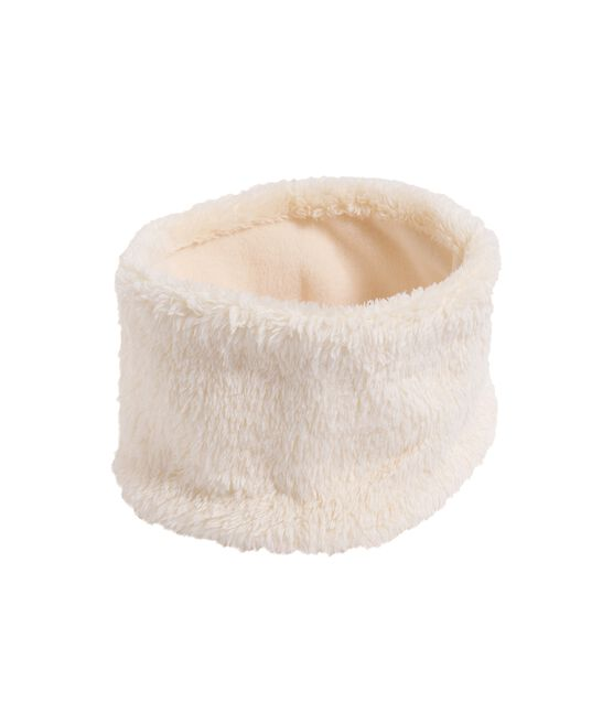 Snood bébé fille blanc Marshmallow