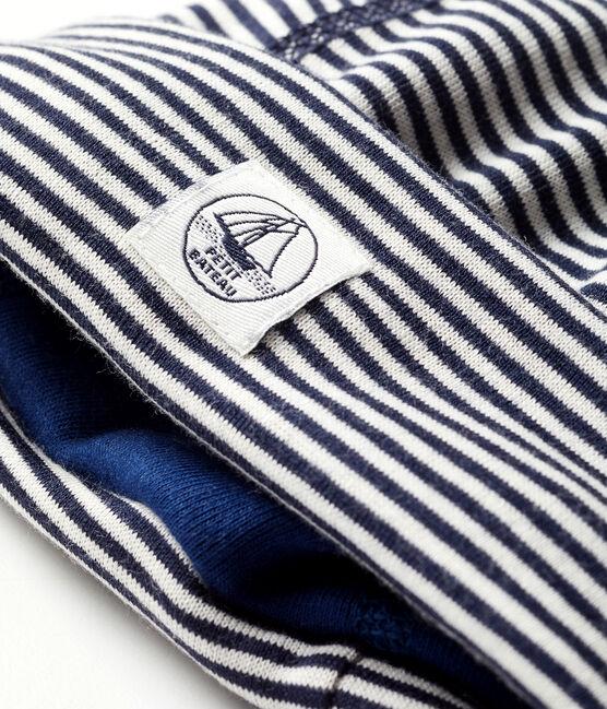 Bonnet naissance anti-ondes bleu Smoking / blanc Ecume