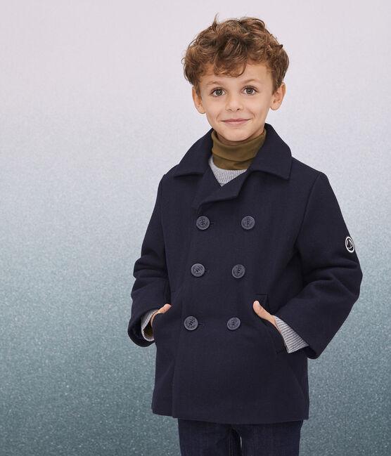 Caban en drap de laine garçon bleu Smoking