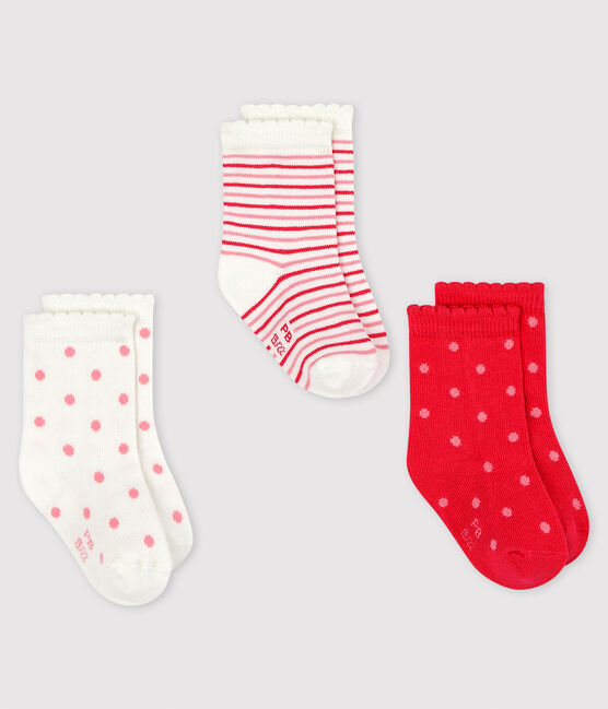 Lot de 3 chaussettes à motif bébé fille lot .