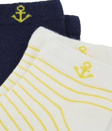 Lot de 2 paires de chaussettes enfant garçon blanc Marshmallow