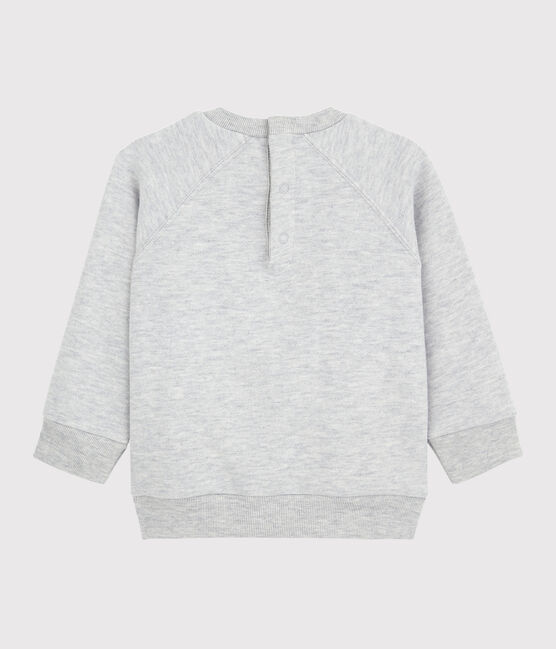 Sweatshirt manches longues bébé garçon gris Beluga
