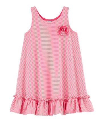 Robe enfant fille rose Geisha / blanc Marshmallow