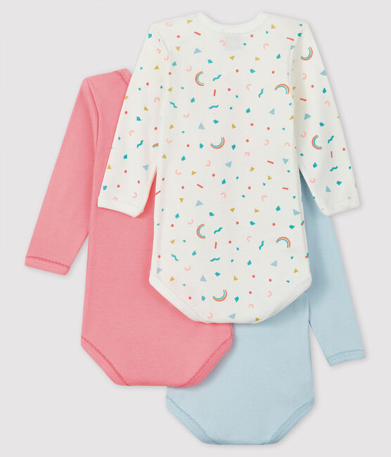 Lot de 3 bodies manches longues bébé fille lot .