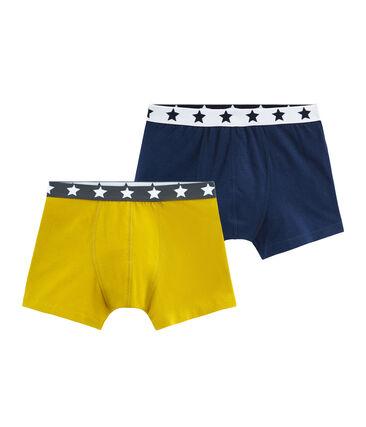 Duo de boxers petit garçon en coton stretch