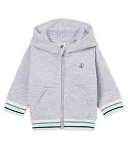 Sweatshirt à capuche zippé bébé garçon en molleton