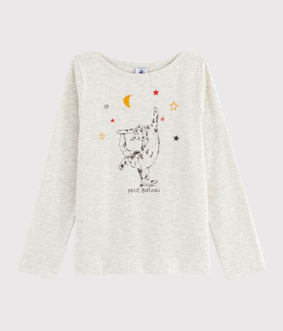 Tee-shirt sérigraphié enfant fille gris Montelimar Chine