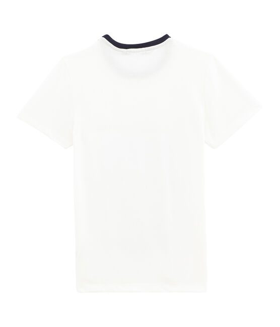 Tee shirt femme rayure marinière blanc Marshmallow / blanc Multico