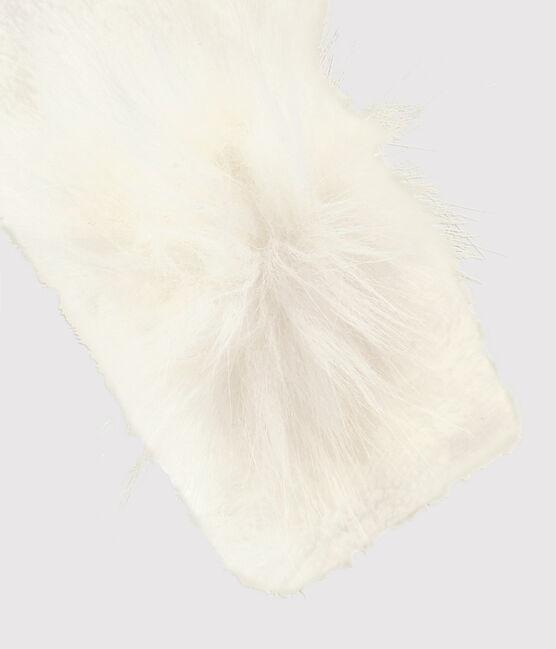 Moufles enfant fille blanc Marshmallow