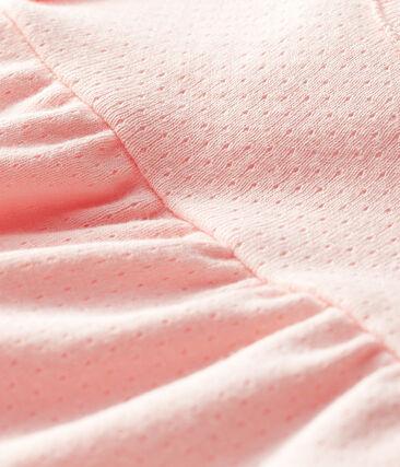 Blouse manches courtes bébé fille unie rose Minois