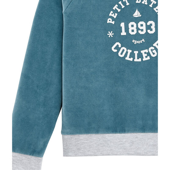 Sweat-shirt enfant fille bleu Mozaik