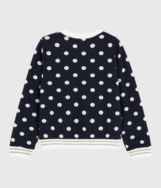 Sweat shirt enfant fille bleu Smoking / blanc Marshmallow