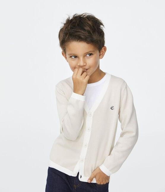 Cardigan enfant garçon blanc Feta