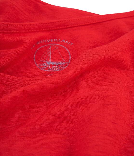 Tee shirt lin femme rouge Peps