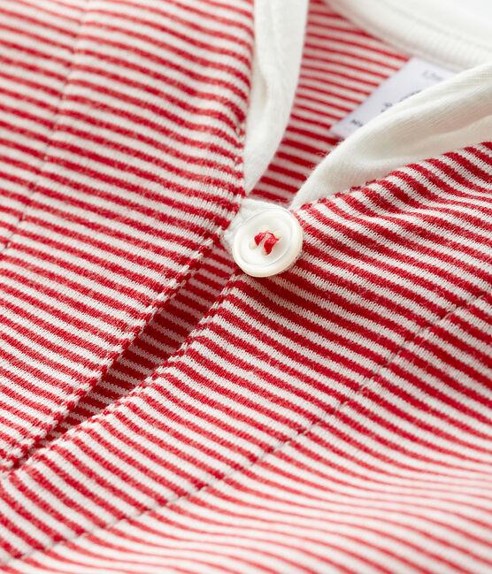 Tee-shirt milleraies bébé garçon rouge Terkuit / blanc Marshmallow