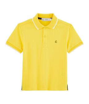 Polo enfant garcon jaune Shine