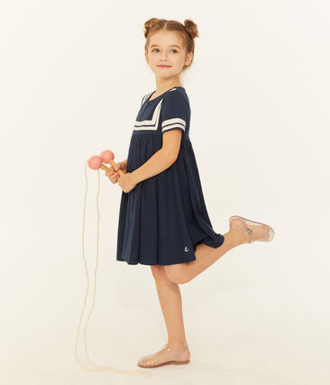 Robe enfant fille bleu Smoking