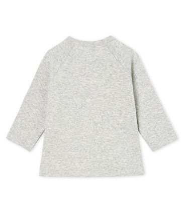 Tee shirt manches longues bébé fille gris Beluga