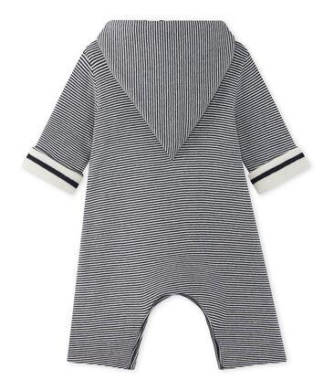 Combinaison bébé à capuche rayée milleraies