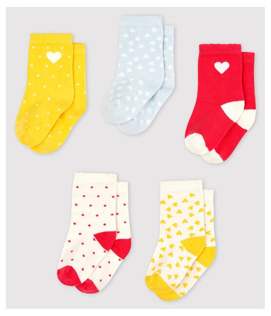 Lot de 5 paires de chaussettes à motif bébé fille lot .