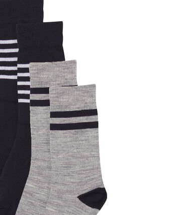 Lot de 2 paires de chaussettes hautes et chaudes enfant garçon lot .