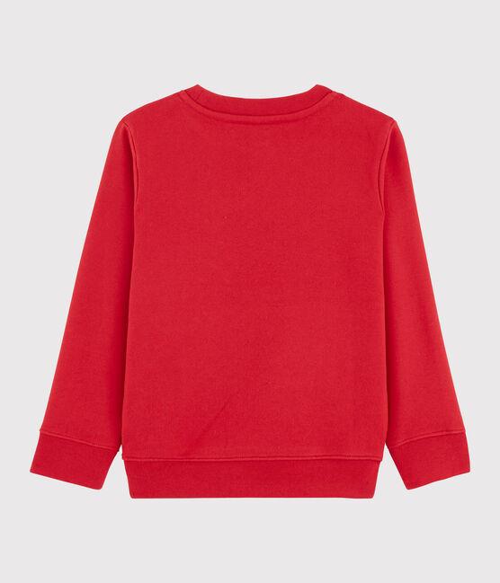 Sweat shirt enfant garçon rouge Terkuit