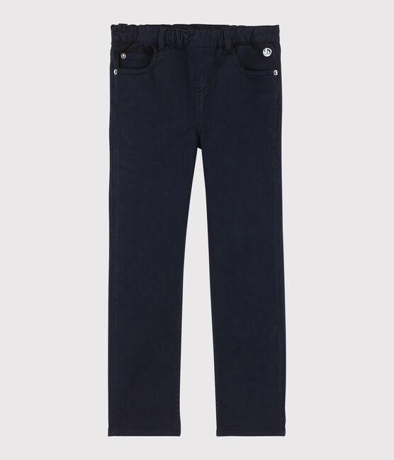 Pantalon enfant fille bleu Smoking Cn