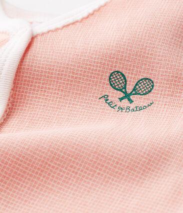 Dors bien bébé fille en côte rose Rosako / blanc Marshmallow