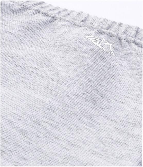 Legging fille en coton stretch uni gris Poussiere