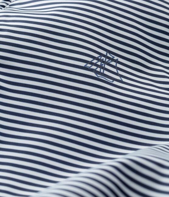 Coupe-vent bébé mixte rayé bleu Smoking / blanc Marshmallow