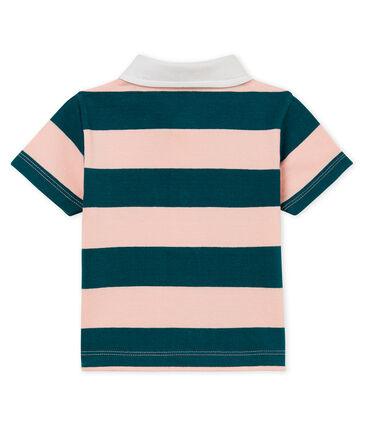 Polo manches courtes bébé garçon en jersey rayé