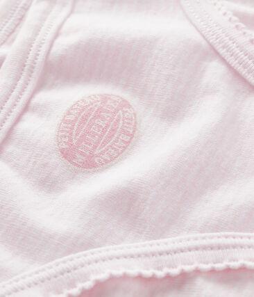 Culotte petite fille rose Pearl / blanc Multico