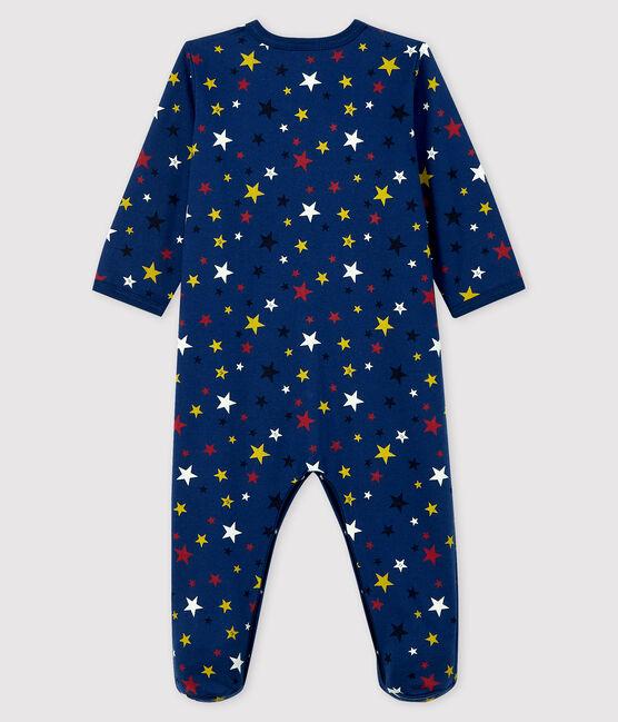Dors-bien nuit étoilée bébé en molleton bleu Medieval / blanc Multico