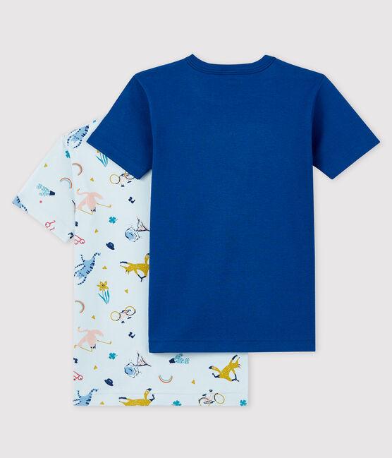 Lot de 2 tee-shirts manches courtes animaux yoga petit garçon lot .