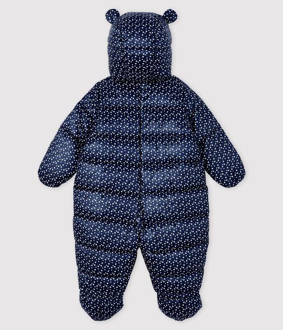 Combipilote bébé fille/garçon bleu Smoking / blanc Marshmallow