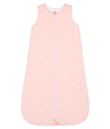 Gigoteuse bébé fille en velours rose Minois / blanc Marshmallow