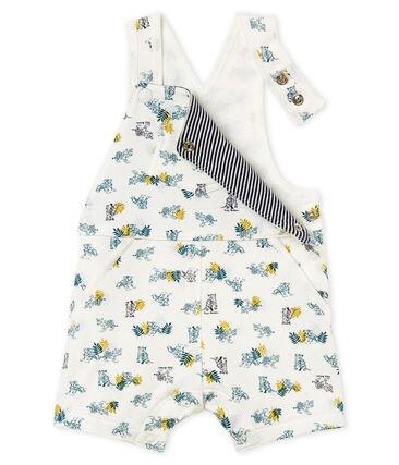 Salopette courte en maille imprimée bébé garçon