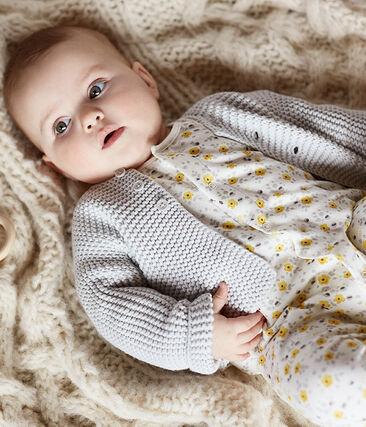 Combinaison longue bébé en laine et coton