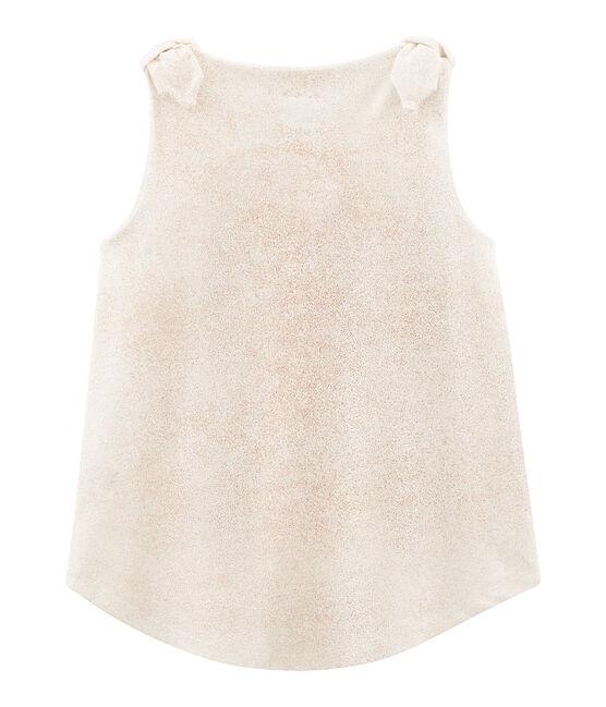 Débardeur enfant fille blanc Marshmallow / rose Copper