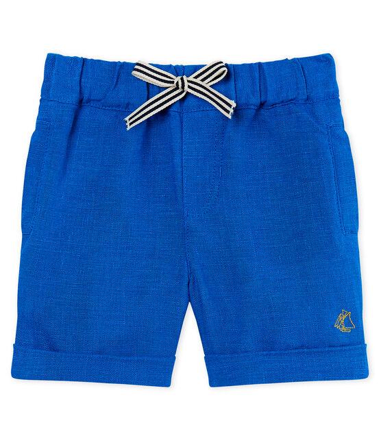 Short bébé garçon en lin bleu Riyadh