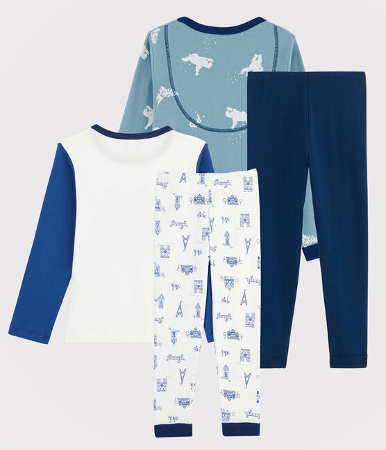 Lots de 2 pyjamas petit garçon en côte lot .
