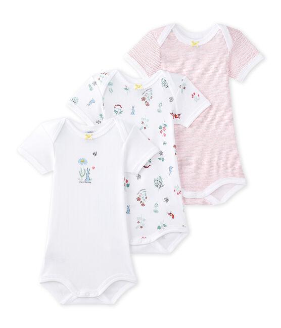 Lot de 3 bodies bébé fille manches courtes lot .