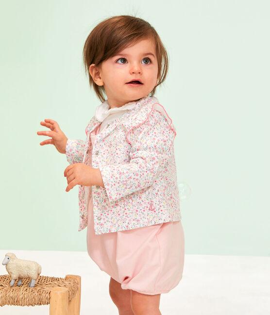 Cardigan léger imprimé bébé fille blanc Marshmallow / blanc Multico