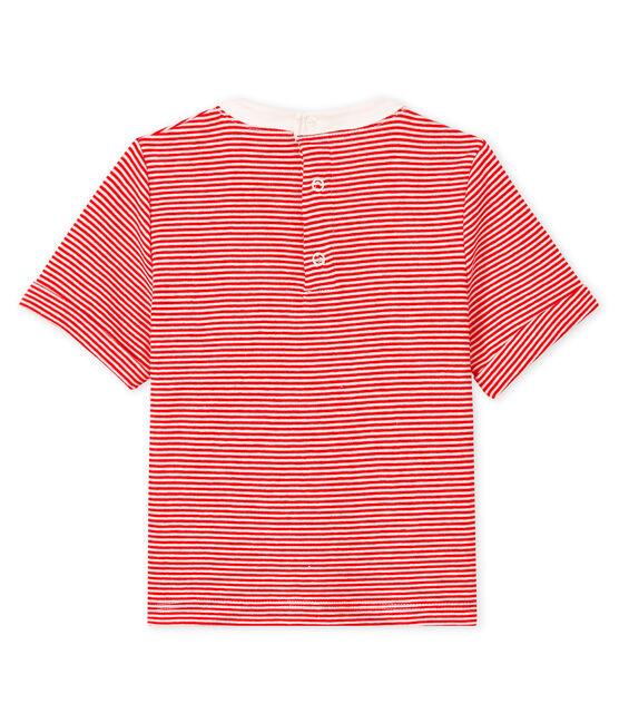 Tee shirt bébé garçon milleraie rouge Peps / blanc Marshmallow