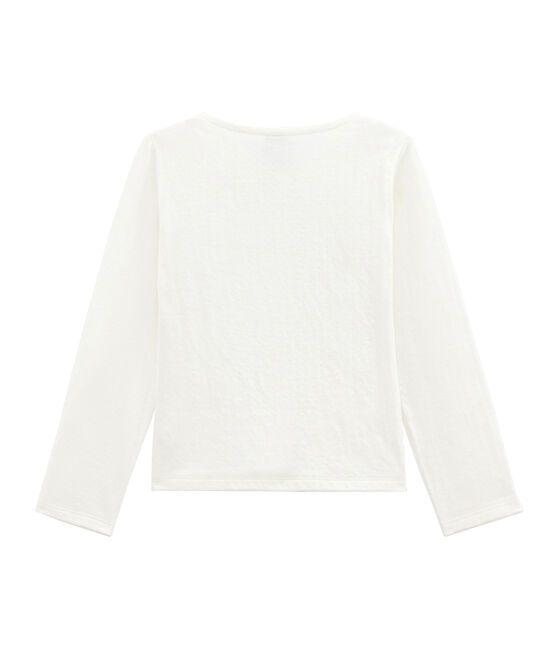 Cardigan fille en tubique blanc Marshmallow