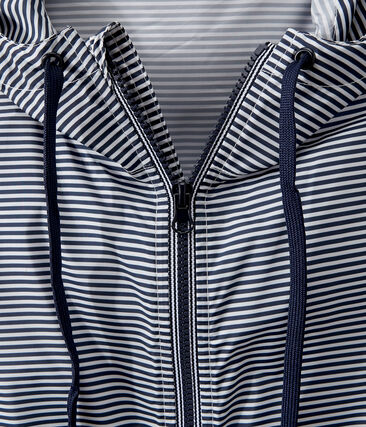 Coupe-vent court mixte bleu Smoking / blanc Marshmallow